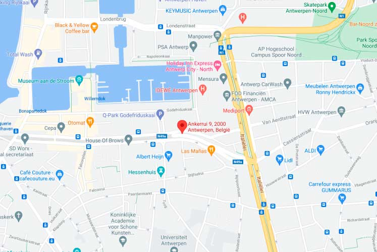 Adres-Antwerpen-Kaart